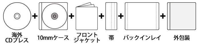 海外CDプレス 10mmPケース+印刷物3点セット