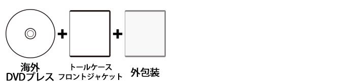 海外DVDプレス トールケースセット