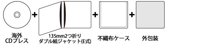 海外CDプレス 135mm2つ折りダブル紙ジャケットセット